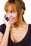 African woman talking on mobile phone Stock Photos
