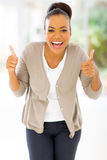 African woman thumbs up Stock Photo