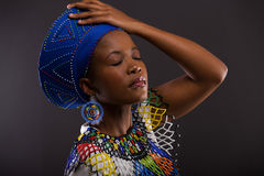 African woman traditional clothes Royalty Free Stock Photo