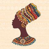 African woman in a turban head Stock Images