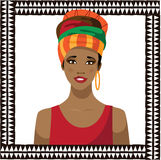 African woman wearing a headscarf Stock Images