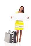 African woman white board Stock Photos