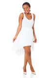 African woman white dress Stock Photography