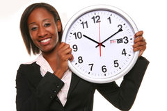 African Woman With Clock Stock Photos
