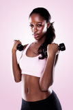 African Woman Working Out Royalty Free Stock Images