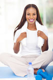 African woman working out Royalty Free Stock Photos