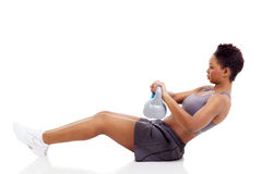 African woman workout Royalty Free Stock Photography