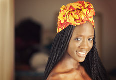 African Woman. Young African American Woman Smiling Royalty Free Stock Photography