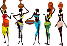 African women. Fragile and beautiful african women - vector illustration