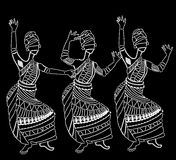 African women. Have fun dancing on a white background Royalty Free Stock Photography