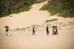 African women on the beach Royalty Free Stock Images