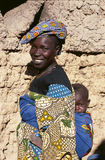African women carrying little baby Royalty Free Stock Image
