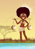African women carrying water Royalty Free Stock Photography