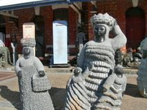 African women and children sculpture art in city center Cape Town South Africa Stock Images