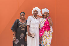 African women posing at Expo 2015 in Milan, Italy Stock Image