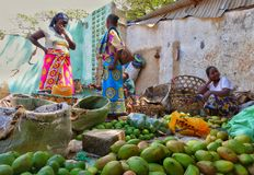African women selling fruits Stock Image