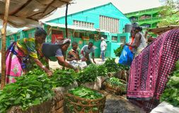 African women selling vegetables Royalty Free Stock Photography