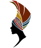 African women silhouette fashion models on white background Royalty Free Stock Photo