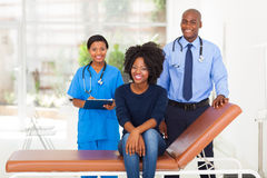 Woman visiting doctor Royalty Free Stock Photos