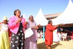 African women in wedding. African women dancing Kikuyu wedding song Nairobi Kenya Royalty Free Stock Photos