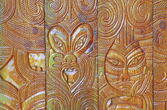 African wood carving design Royalty Free Stock Photos