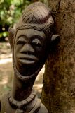An african wood carving in Gambia royalty free stock photos