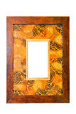 African wood frame Stock Images