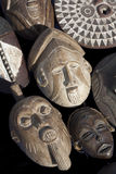 African Wood Mask carvings Stock Photography