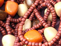 African Wooden Beads. Old African Beads Royalty Free Stock Image