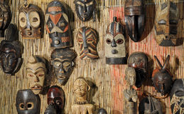 African wooden masks Stock Photography
