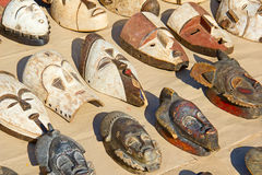 African wooden masks Royalty Free Stock Photos