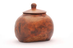 African wooden pot Stock Images