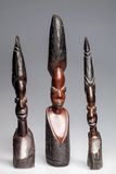 African wooden statuettes of women Stock Images