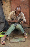 African worker Royalty Free Stock Image