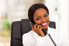 African worker phone Royalty Free Stock Images