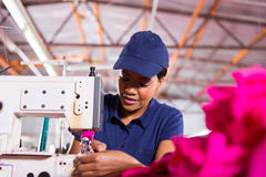 African worker sewing Royalty Free Stock Photography