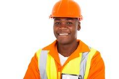African workman uniform Stock Photo