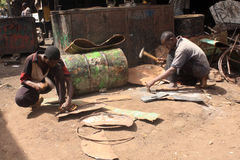 African workmen Stock Photography