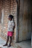 African young boy. Kande beach. Nkhata bay. Malawi Stock Image