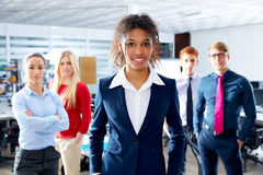 African young businesswoman multi ethnic team Stock Photos
