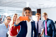 African young executive selfy multi ethnic team Royalty Free Stock Photography
