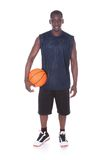 African young man with basketball Stock Photos