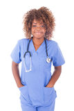 African young nurse isolated on white background Stock Images