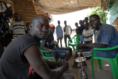 African youth 3. Youths in a market in Kuda, southern Sudan Royalty Free Stock Photos