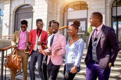 Free African Youth Gang.african Friends Sticking Together Stock Photos - 123094293