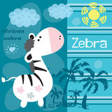 African zebra vector illustration Royalty Free Stock Photography