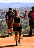 African Zulu dancer Stock Image