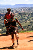 African Zulu dancer Stock Photos