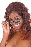 Africano con gli occhiali da sole Fotografia Stock