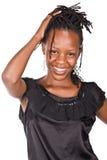 Africano con las trenzas foto de archivo libre de regalías